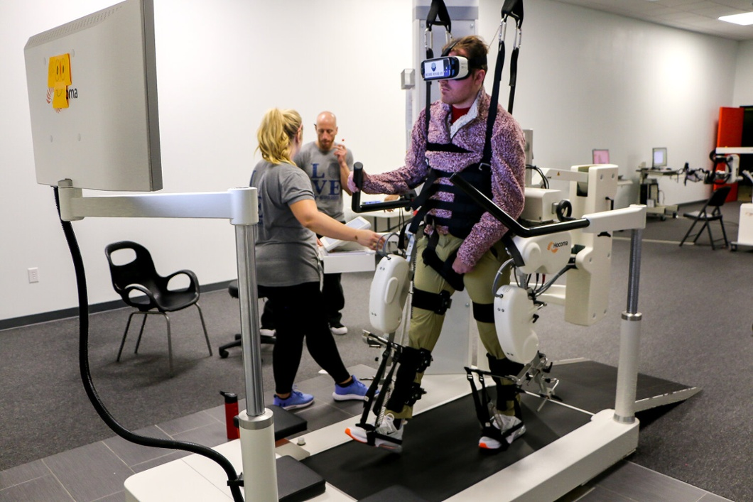 Virtual Reality used in conjunction with the gait trainers - Lokomat