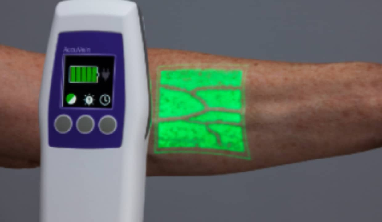 AccuVein healthcare augmented reality application