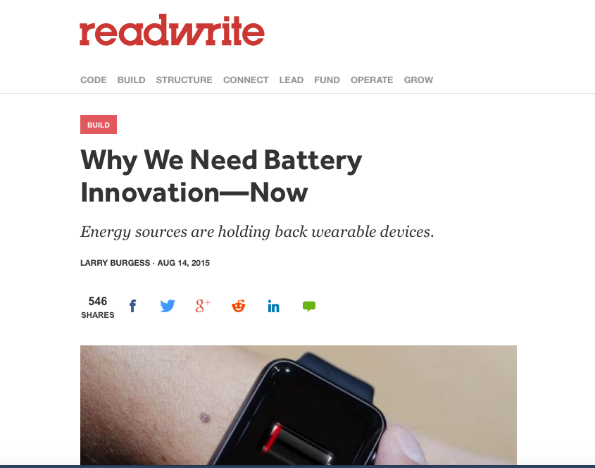 Need Battery Innovation